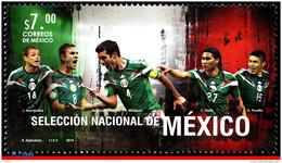 Ref. MX-2875 MEXICO 2014 FOOTBALL-SOCCER, WORLD CUP CHAMPIONSHIP, BRAZIL, NATIONAL TEAM, SPORT, MNH 1V - Mexico