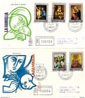 2 Fdc Venetia N. 113:  LA FAMIGLIA (1971);  Raccomandate - FDC