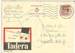 BELGICA PUBLIBEL ENTERO POSTAL 1981 TADERA SASTRE TEXYL TAYLOR MODA SOMBRERO  AGUJEROS ARCHIVO - Textiles