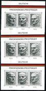 A00-11) BRD - 3x Michel Block 11 = 871 / 873 - ** Postfrisch - Friedensnobelpreisträger - [7] West-Duitsland