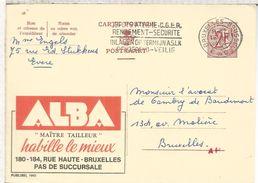 BELGICA PUBLIBEL ENTERO POSTAL 1915 ALBA TEXTIL SASTRE TAYLOR TAILLEUR MODA - Textiles