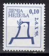 Yugoslavia,Children's Week 1995.,MNH - 1992-2003 République Fédérale De Yougoslavie