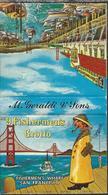 Lucifermapje - No 9 Fisherman's Grotto. Fisherman's Wharf San Francisco. M. Geraldi & Sons. Matchbox, Matches, 2 Scans - Luciferdozen