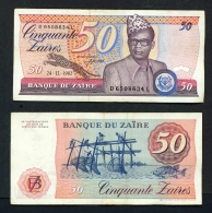 ZAIRE  -  30/06/1983  50  Zaires  Banknote  Circulated But In Good Clean Unfolded Condition - Zaire