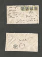 Dominican Rep. 1922 (19 April) Sandez - USA, OH, Lorain (26-28 April) Registered Multifkd Envelope. Ovptd Issue. - Dominican Republic