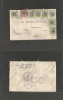 Dominican Rep. 1922 (28 July) Sto Domingo - USA, OH, Lorain (15 Aug) Registered Multifkd Env. - Dominican Republic