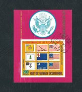 EQUATORIAL GUINEA 1975 - The 200th Anniversary Of The Independence Of U.S.A. - 200 E. - Yvert GQ PA44 (BF2) - Guinea Equatoriale