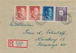 General Gouvernement Lettre Recommandée Myslenice Pour L'Allemagne 1946 - 1939-44: 2. WK