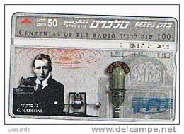 ISRAELE (ISRAEL) - BEZEQ (L&G) - 1995 100^ ANNIV. RADIO: GUGLIELMO MARCONI - USED  - RIF. 4408 - Israele
