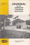 Journal Of The American Concrete Institute, September 1964 Proceedings V. 61 No. 9 - Architecture/ Design