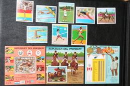 Paraguay  16.12.1976 Mi # 2863-70 Bl 288-90 1976 Montreal Summer Olympics MNH OG - Verano 1976: Montréal