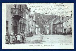 08. Fumay. Place De L'Hôtel De Ville. Café De La Poste. Magasin J. Georges Meubles En Tous Genres. 1901 - Fumay