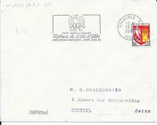 ISERE 38  -  GRENOBLE  - FLAMME N° 1573  -  VOIR DESCRIPTION - 1965 - TIMBRE N° 1353A TARIF IMPRIME 19 05 64 (NAPOLEON) - Oblitérations Mécaniques (flammes)