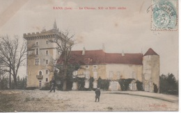 Rans ( Jura ) - Le Château , XII Et XIII E Siècles ( Carte En Couleur Ou Colorisée ) - Other Municipalities
