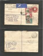 Bc - Basutoland. 1957 (13 Feb) Leribe - Malta, Paola (25 Feb) Registered Airmail 6d Red Multifkd Stationary Envelope + A - Sin Clasificación