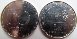 "New!!! Hungary 50 Forint 2017 ""FINA World Championship Budapest"" UNC - Hongrie"
