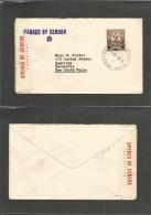 Bc - Samoa. 1940 (2 Sept) WS. Apia - Australia, NSW, New Castle. Single 3d Fkd Ovptd Issue Env + Censor Label + Cahcet + - Sin Clasificación