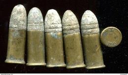 6 Cartouches 320 Percussion Centrale Pour  Revolver Bulldog - Decorative Weapons