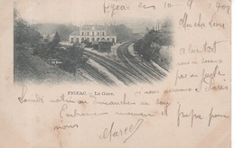 Figeac - La Gare ( Chemin De Fer Voie Ferrée ) Carte Nuage Ou Précurseur - Figeac