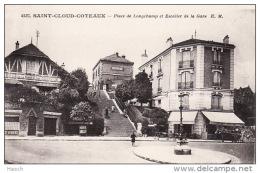 925aSaint Cloud Coteaux, Place De Longchamp Et De La Gare - Saint Cloud