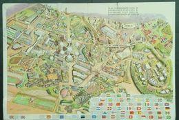Originele Panaramische Map Kaart Plan Programma Expo 58 1958 Brussel Bruxelles (scheurtjes) - Europe