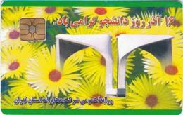 Iran, IN-Telecom-chip 087, Daneshjou, Diff. Chip, 2 Scans   Chip : ?? (Square Center), Afnor Position - Iran