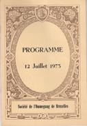 Société De L'Ommegang De Bruxelles - Programme 12 Juillet 1973 - Seasons & Holidays