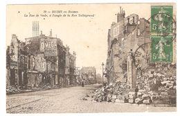 Reims - La Rue De Vesle, à L'angle De La Rue Talleyrand - Guerre 1914-18 - WW1 - Pub Montre Omega - Reims
