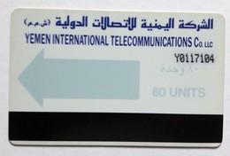 Yémen Carte Bande Magnétique  80 Unité - Yémen
