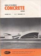 Journal Of The American Concrete Institute, November 1967, No. 11 Proceedings V. 64 - Architecture/ Design
