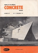 Journal Of The American Concrete Institute, December 1967, No. 12 Proceedings V. 64 - Architecture/ Design