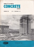 Journal Of The American Concrete Institute, November 1968, No. 11 Proceedings V. 65 - Architecture/ Design