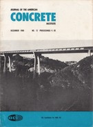 Journal Of The American Concrete Institute, December 1968, No. 12 Proceedings V. 65 - Architecture/ Design