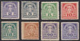 AUSTRIA -  OSTERREICH - 1920/1921 - Lotto 8 Francobolli Per Giornali DENTELLATI Nuovi MH E/o Senza Gomma. - Giornali