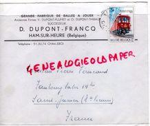 BELGIQUE - HAM SUR HEURE- GRANDE FABRIQUE DE BALLES A JOUER- V.DUPONT-FRANCQ A PIERRE PERUCAUD MEGISSERIE SAINT JUNIEN - Belgique