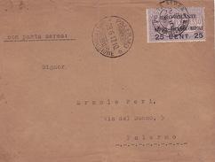 Briefvorderseite/Ausschnitt Idrovolante Napoli-Palermo-Napoli - 1900-44 Victor Emmanuel III