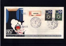 Netherlands 1957 Europa Cept Interesting FDC - Europa-CEPT