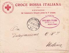 Croce Rossa Von Posta Militare 36 Nach Udine - 1900-44 Victor Emmanuel III