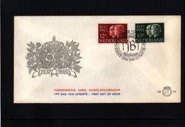 Netherlands 1962 Michel 772-773 Interesting FDC - Period 1949-1980 (Juliana)
