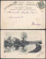 CC511 Carte De Mons à Hautrage - 1903 - Griffe Hautrage Etat  - Ath La Dendre Canal - 1893-1907 Armoiries