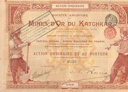 Action Ancienne - Sté Anonyme Des Mines D' Or Du Katchkar - Titre De 1897 - - Mineral
