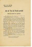 POLITIEK   PROPAGANDA  Als De Vos De Passie Preekt - Books, Magazines, Comics
