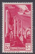 Italy-Colonies And Territories-Tripolitania A9  1931 Air Leptis Magna Ruines, 50c Carmine, MH - Tripolitania