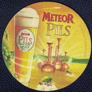 France SB Sous Bock Bière Beer Mat Meteor Pils à La Fleur De Houblon - Sous-bocks
