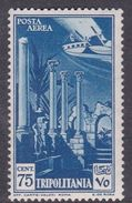 Italy-Colonies And Territories-Tripolitania A11  1931 Air Leptis Magna Ruines, 75c Blue, MH - Tripolitaine