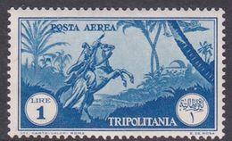 Italy-Colonies And Territories-Tripolitania A13  1931 Air Horseman, 1 Lira Blue, MH - Tripolitania
