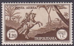 Italy-Colonies And Territories-Tripolitania A14  1931 Air Horseman, 1.20 Brown, MH - Tripolitania