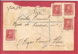 Y&T N° 601(CENSURE MILITAIRE) Vers  FRANCE  1938  2 SCANS - 1931-Oggi: 2. Rep. - ... Juan Carlos I