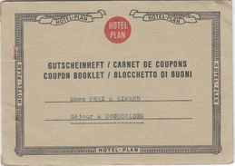 Hotel Plan Paris. Carnet De Coupons Voyage Séjour à Hochsolden, Autriche, Janvier 1959. 6 Scans - Transportation Tickets