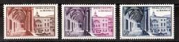 Monaco - 1952 - N° 383 à 385 - Neufs ** - Musée Postal - Galerie D'Hercule - Monaco